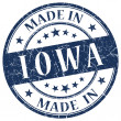 Made in Iowa blue round grunge isolated stamp — Stock Photo #40337217