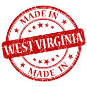 Made in West Virginia red round grunge isolated stamp — Stock Photo