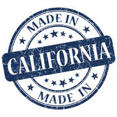 Made in California blue round grunge isolated stamp — Stock Photo