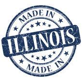 Illinois mavi yuvarlak grunge izole damgalamak içinde yapılan — Stok fotoğraf