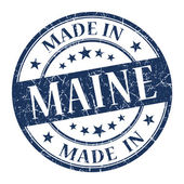 Made in Maine blue round grunge isolated stamp — Stock Photo