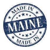 Maine mavi yuvarlak grunge izole damgalamak içinde yapılan — Stok fotoğraf