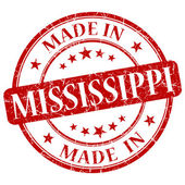 Made in Mississippi red round grunge isolated stamp — Stock Photo