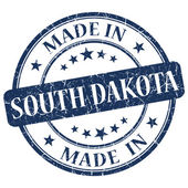 Made in South Dakota blue round grunge isolated stamp — Stock Photo