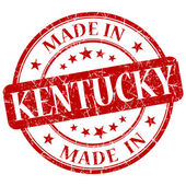 Made in Kentucky red round grunge isolated stamp — Stock Photo