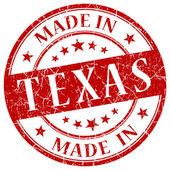 Texas kırmızı yuvarlak grunge izole damgalamak içinde yapılan — Stok fotoğraf