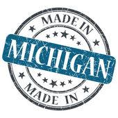 Michigan mavi yuvarlak grunge izole damgalamak içinde yapılan — Stok fotoğraf