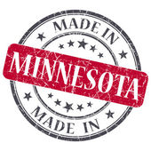Made in Minnesota red round grunge isolated stamp — Stock Photo