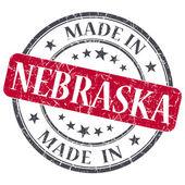 Made in Nebraska red round grunge isolated stamp — Stock Photo