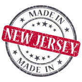 Made in New Jersey red round grunge isolated stamp — Stock Photo