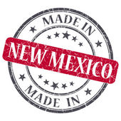Made in New Mexico red round grunge isolated stamp — Stock Photo