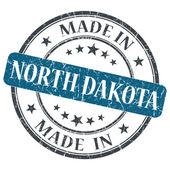 Made in North Dakota blue round grunge isolated stamp — Stock Photo