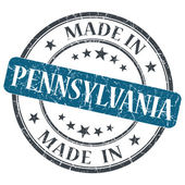 Made in Pennsylvania blue round grunge isolated stamp — Стоковое фото