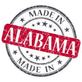 Made in Alabama red round grunge isolated stamp — Stock Photo