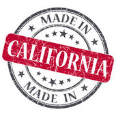 Made in California red round grunge isolated stamp — Stock Photo