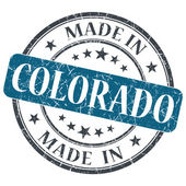 Made in Colorado blue round grunge isolated stamp — Stock Photo