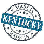 Made in Kentucky blue round grunge isolated stamp — Stock Photo