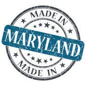 Hecho en sello aislados de maryland grunge redondo azul — Foto de Stock