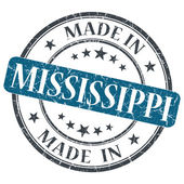 Made in Mississippi blue round grunge isolated stamp — Stock Photo