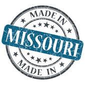 Made in Missouri blue round grunge isolated stamp — Stock Photo