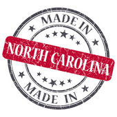 Made in North Carolina red round grunge isolated stamp — Stock Photo