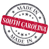Made in South Carolina red round grunge isolated stamp — Stock Photo