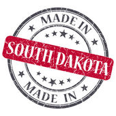 Made in South Dakota red round grunge isolated stamp — Stock Photo