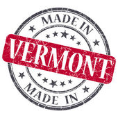 Made in Vermont red round grunge isolated stamp — Stock Photo
