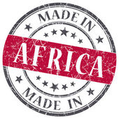 Made in Africa red grunge round stamp isolated on white background — Стоковое фото