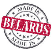 Made in BELARUS red grunge stamp isolated on white background — Stock Photo