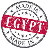 Made in EGYPT red grunge stamp isolated on white background — Stock Photo