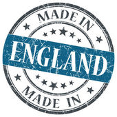 Made in England blue grunge round stamp isolated on white background — Stock Photo