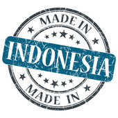 Made in INDONESIA blue grunge stamp isolated on white background — Stock Photo