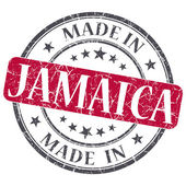 Made in JAMAICA red grunge stamp isolated on white background — Stock Photo