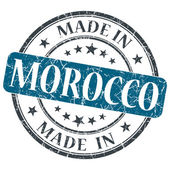Made in MOROCCO blue grunge stamp isolated on white background — 图库照片