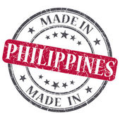 Made in PHILIPPINES red grunge stamp isolated on white background — Stock Photo