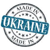Made in UKRAINE blue grunge stamp isolated on white background — Stock Photo