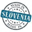 Made in Slovenia blue grunge round stamp isolated on white background — Stock Photo #42115535