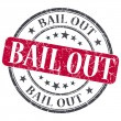 Stock Photo: Bail Out red grunge round stamp on white background