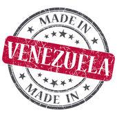 W Wenezueli pieczęć czerwony ilustracja na białym tle na białym tle — Zdjęcie stockowe