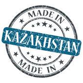 Feita no cazaquistão selo azul grunge isolado no fundo branco — Fotografia Stock