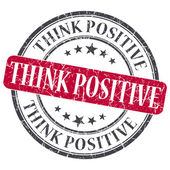 Think Positive red grunge round stamp on white background — Stock Photo