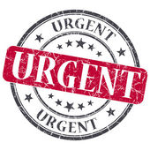 Urgent red grunge round stamp on white background — Stock Photo