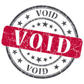 Void red grunge round stamp on white background — ストック写真