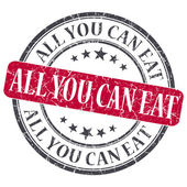 All You Can Eat red grunge round stamp on white background — Stock Photo