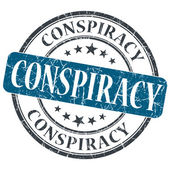 Conspiracy blue grunge round stamp on white background — Stock Photo