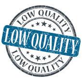 低质量深蓝色 grunge 圆邮票贴在白色背景上 — 图库照片