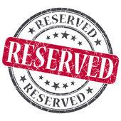 予約済みの赤いグランジ ラウンド ホワイト バック グラウンドでスタンプ — ストック写真