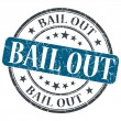 Stock Photo: Bail Out blue grunge round stamp on white background