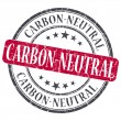 Stock Photo: Carbon Neutral red grunge round stamp on white background